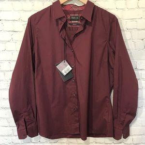 Barbour Cramlington Button Up Dark Rosewood shirt